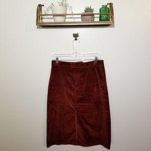 A.P.C. Fall 2018 Corduroy Midi Skirt